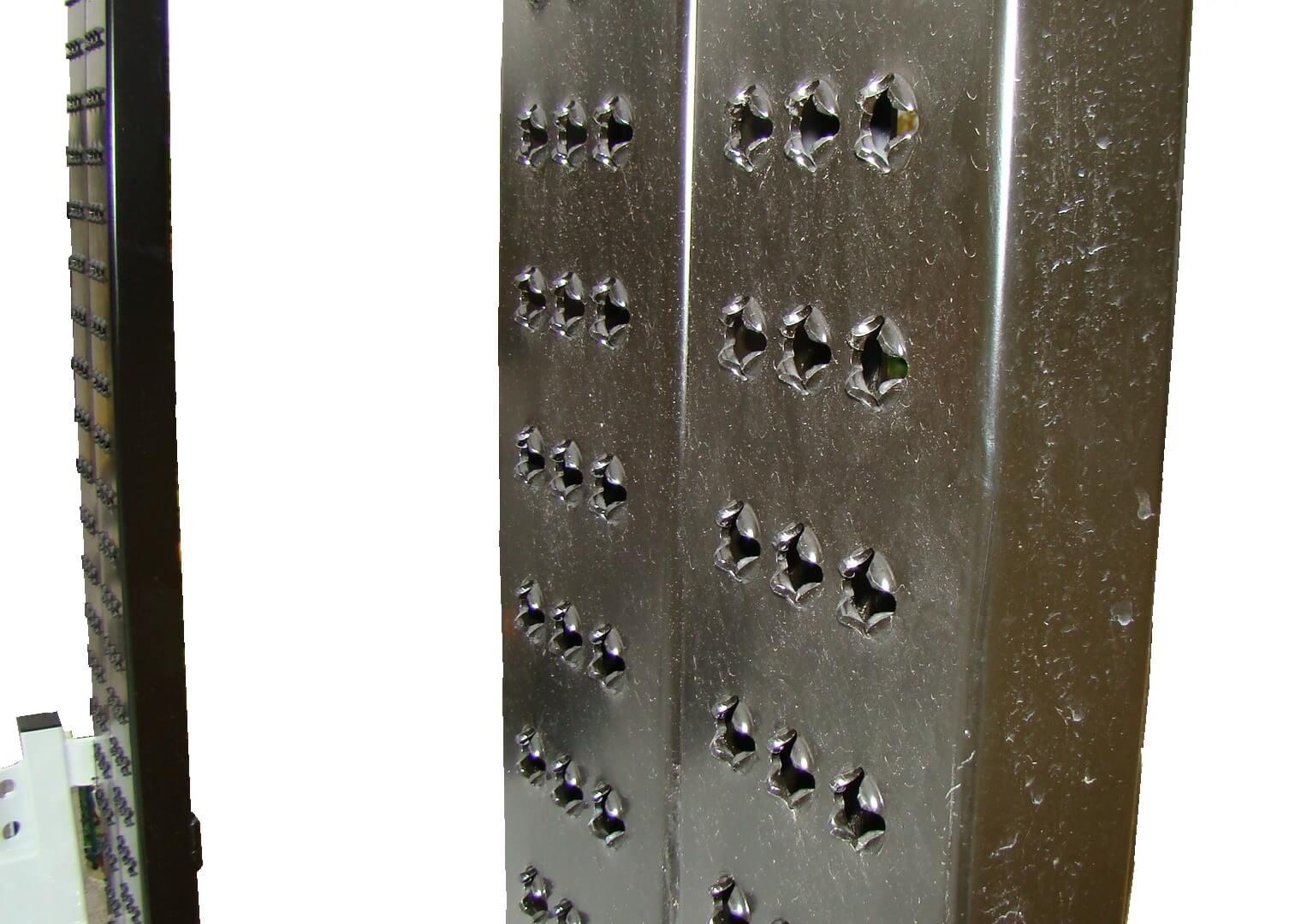 rampes acier anti-dérapantes